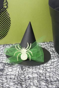 Cute mini Witch Hat made with circle die cuts