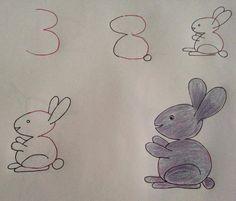 Esta colección de 25 dibujos que son fáciles de hacer con los pequeños de la casa. Están hecho tomando como base un número, letra u otras figuras geométricas como base.