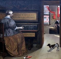 Gabriel Metsu, Lady at a Virginal, circa oil on canvas, Boijmans Van Beuningen museum Johannes Vermeer, Gabriel Metsu, Google Art Project, Dutch Golden Age, Baroque Art, Dutch Painters, Art Database, Sculpture, Beautiful Paintings