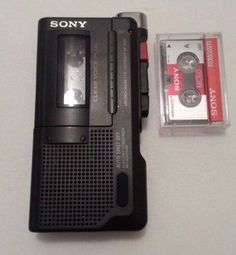 SONY-M-450-Handheld-MicroCassette-Voice-Recorder-Clear-Voice-Plus-GREAT-SHAPE