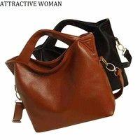 Wish   5 Colors Women Leather Bags Handbags Large Shoulder Bags Designer Vintage Bag Bolsas Femininas