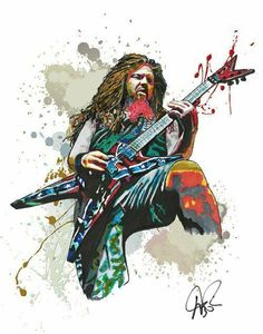 Dimebag Darrell Pantera Heavy Metal Guitar 1114 Music Art Print Poster - White Metal Art - Ideas of White Metal Art Heavy Metal Tattoo, Heavy Metal Guitar, Heavy Metal Art, Heavy Metal Bands, Contemporary Metal Wall Art, Abstract Metal Wall Art, Large Metal Wall Art, Dimebag Darrell, Pantera Band
