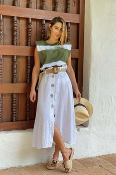Long Skirt Fashion, Long Skirt Outfits, Chic Outfits, Fashion Outfits, Womens Fashion, Fashion 2020, Look Fashion, Street Style Looks, Western Wear