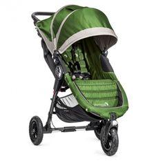 Poussette City Mini GT Baby Jogger Lime Grey vert gris légère (21 lb) et compacte reçoit un bébé dès la naissance