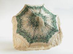 1840-50, Sonnenschirm, Seide, Holz und Schilfrohr
