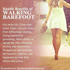 being barefoot is the perfect start to a walking meditation so you feel grounded