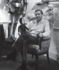 Charles Addams (1912-1988), the brilliant cartoonist who created the Addams family