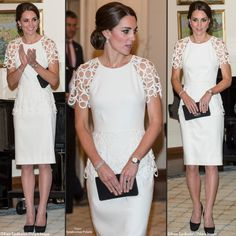 The first time we saw the Duchess wearing Lela Rose was in 2014, for a Government House reception in Australia.
