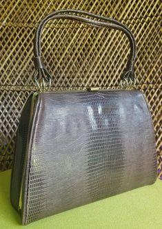 Vintage Faux Alligator Skin Purse Brown Handbag by Dover | Etsy Orange Sweaters, Cute Sweaters, Pocket Books, Vintage Items, Vintage Clothing, Vintage Outfits, My Etsy Shop, Tote Bag, Handbags