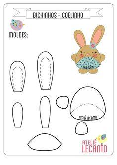 Making Your Own Plushies: Felt Toys Felt Patterns, Craft Patterns, Stuffed Toys Patterns, Sewing Patterns, Sewing Toys, Sewing Crafts, Sewing Projects, Felt Fabric, Fabric Dolls
