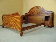 OUTSTANDING ART DECO BEDROOM SUITE C1930 in Antiques, Antique Furniture, Beds…