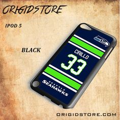 Seahawks Cirillo 33 Black White Snap On 3D For Ipod Touch 5 Case
