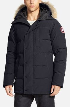 Canada Goose parka replica store - Men's Canada Goose 'Chateau' Slim Fit Genuine Coyote Fur Trim ...