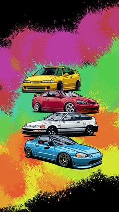 Jdm Wallpaper, Naruto Wallpaper, Cool Wallpapers For Phones, Car Wallpapers, Honda V, Most Popular Cars, Japan Cars, Pinterest Photos, Car Drawings