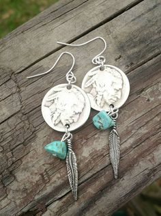 Check out this item in my Etsy shop https://www.etsy.com/listing/265741836/buffalo-coin-earrings-nickel-earrings