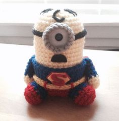 Superman Minion PDF Pattern Crochet Amigurumi Doll by JAMigurumi