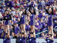 Check out the K-State Cheerleaders wearing some GTM gear while cheering at the football game! #WeLoveOurCustomers