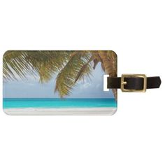 #Green Palm Tree on Beach during Daytime Luggage Tag - #travel #accessories