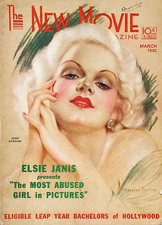 Grapefruit Moon Gallery: Jean Harlow New Movie Cover