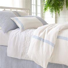 Pine Cone Hill Varana Linen French Blue Duvet Cover