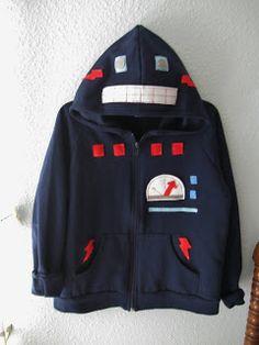 Cute robot hoodie idea