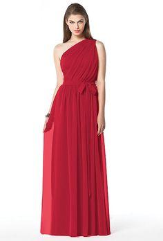 red-bridesmaid-dress