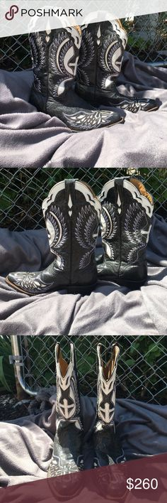 Cowboy Boots *REAL AUTHENTIC* These beauties are straight from Nashville and have only been worn ONE time! Size 7, genuine leather! J.B. Dillon Shoes