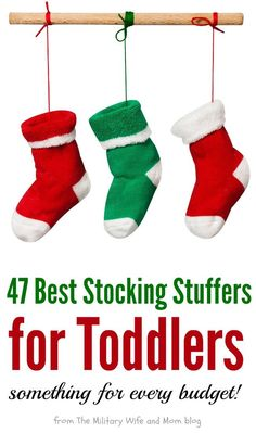 So hard to choose between all these amazing stocking stuffers for toddlers! via (Christmas Stockings For Kids) Christmas Gift Guide, Christmas Gifts For Her, Holiday Gifts, Christmas Stockings, Christmas Crafts, Kids Stockings, Celebrating Christmas, Christmas Tree, Christmas Wishes