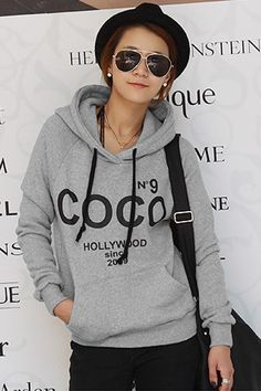 Korean Long Sleeve Regular  Light Grey Cotton Pullover £5