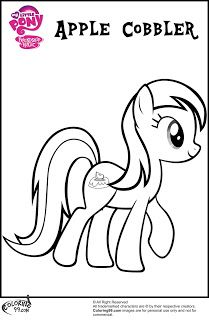 mlp apple family coloring pages