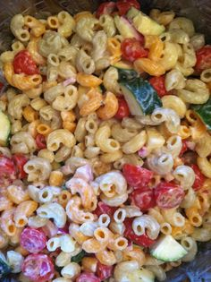 Healthy Summer Pasta Salad- I may have to try this!