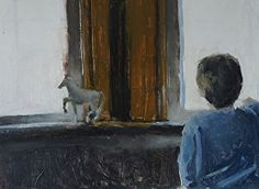 Joey Waits by Ian Costello Oil ~ 10 x 15