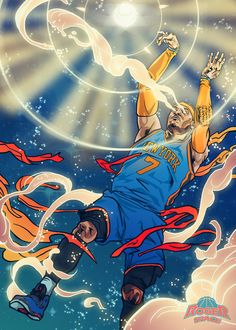 Carmelo Anthony 'Light the Night' Art