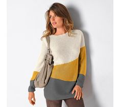 Pulóver s grafický dizajnom | blancheporte.sk #blancheporte #blancheporteSK #blancheporte_sk #akce #vyprodej #sleva Pulls, Collection, Sweaters, Mousse, Dresses, Design, Fashion, Honey, Sweater Dress Outfit