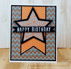 Happy Birthday Star - Simply Creative My Guy card by design team member Lyndsey