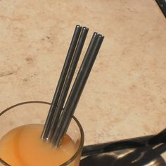 Stainless+Steel+Straws+Regular+Style++4+Pack++by+MulledMind,+$12.00