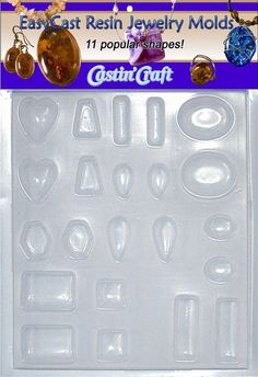 Environmental Technology Castin' Craft EasyCast Resin Jewelry Mold, 11 Popular Jewelry Shapes On One Tray