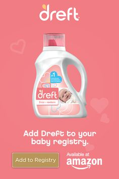 Be sure to register for Dreft, the pediatrician recommended baby detergent for washing your newborn's clothes. Dreft is hypoallergenic and specially formulated for newborn babies to be gentle on their skin. hiking for beginners gears Baby Laundry Detergent, Procter And Gamble, Baby Arrival, Baby Skin, Baby Registry, Future Baby, Kids And Parenting, Parenting Tips, Toddler Activities