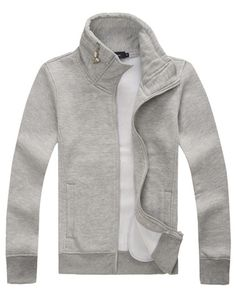 Concise Style Zip Trim Stand Collar Hoodie for Men, Shop online for $20.00 Cheap Hoodies & Sweatshirts code 712560 - Eastclothes.com