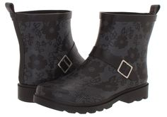 Capelli New York Women's Matte Blossom Printed Rain Boot w/ Ankle Buckle Strap * Check out this great product.