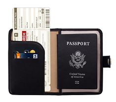 Quote Out Decision Leather Passport Holder Cover Case Travel One Pocket