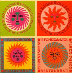 Mid-Century Modern Graphic Design by Alexander Girard Modern Graphic Design, Graphic Design Inspiration, Graphic Designers, Design Bauhaus, Alexander Girard, Illustration Art, Illustrations, Sun Designs, Hippie Art