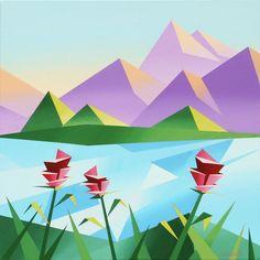 cubist mountain - Google Search