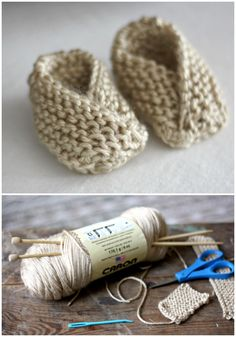 I have rounded up 20 Free and Easy Knitting Patterns for your!Easy Knit Baby Booties