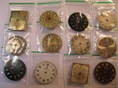 12 Vintage Wrist Watch Dials Steampunk Jewelery by HandzofTime