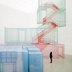 Korean artist Do-Ho Suh created a full-size model of his New York apartment…