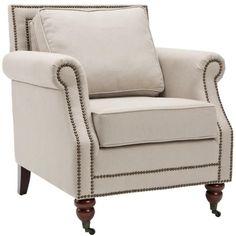 Safavieh Cambridge Club Chair, Beige (Fabric)