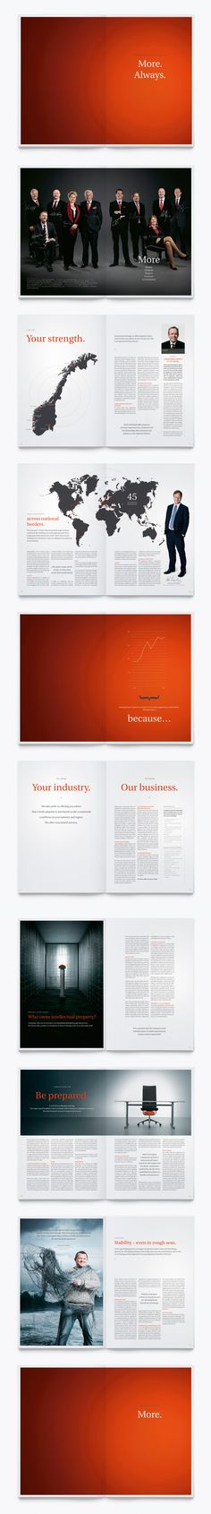 Steenstrup Stordrange, Annual Report by Gøril Johnstad Hansen, via Behance