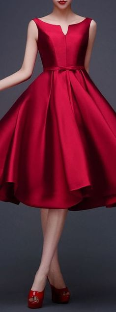 88 Elegant Red Dress Ideas Make You Look Sexy Vestidos Vintage, Vintage Dresses, Vintage Shoes, Short Dresses, Prom Dresses, Formal Dresses, Dress Prom, Bridesmaid Dress, Dresses Dresses