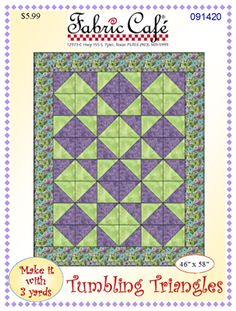 Tumbling Triangles 3 Yard Quilt Pattern Lap Quilts, Scrappy Quilts, Small Quilts, Crib Quilts, Quilting Tips, Quilting Designs, Purple Quilts, Colorful Quilts, Triangle Quilt Pattern